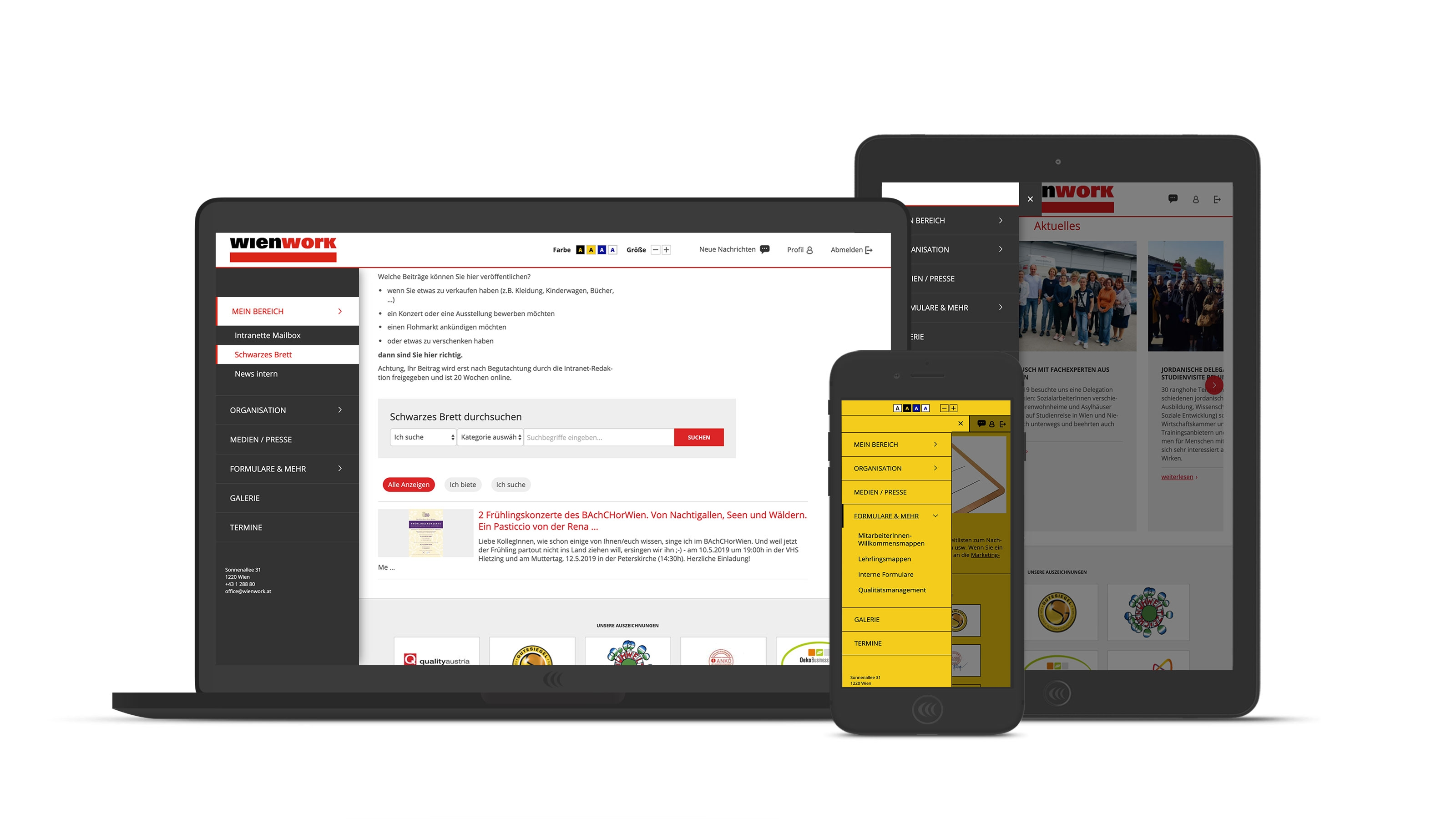 Wien Work Intranet | intranet.wienwork.at | 2018 (Responsive) © echonet communication